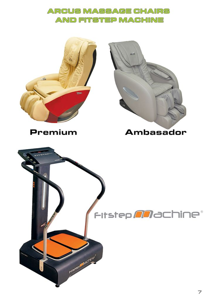 Arcus Massage Chairs & Fit-Step Machine